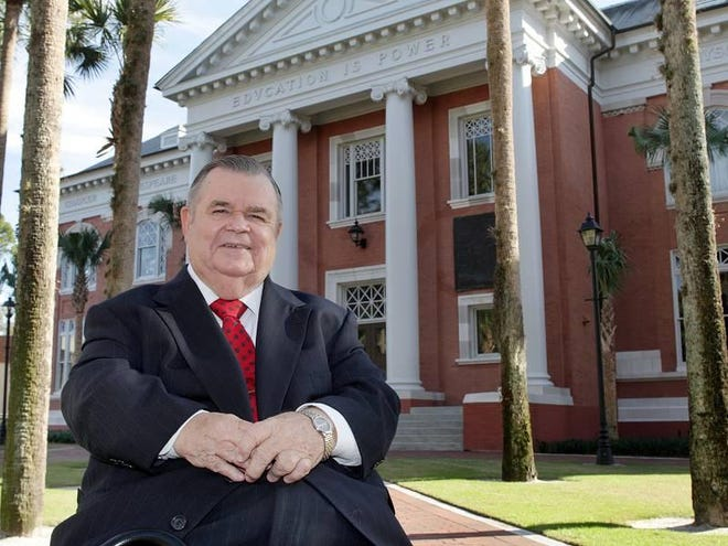 T. Wayne Bailey, professor emeritus of political science at Stetson University, started at the DeLand school in 1963.