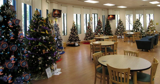 Plenty of space allows patrons to enjoy the annual Festival of Trees at the Flagler County Public Library, now through the end of December.