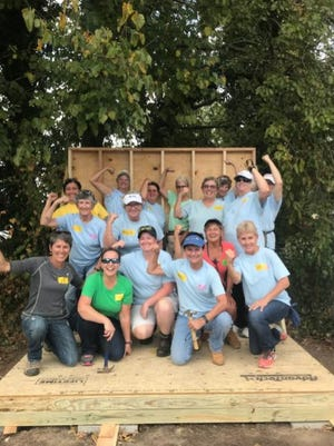 The Sussex County Habitat for Humanity recently celebrated the completion of this year's Women Build House. Pictured: pre-COVID-19 construction takes place.