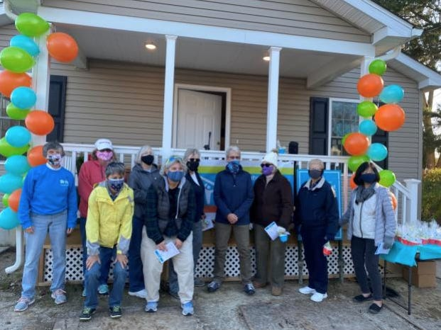 The Sussex County Habitat for Humanity recently celebrated the completion of this year's Women Build House. Pictured: some of the Women Build volunteers at the dedication and blessing.