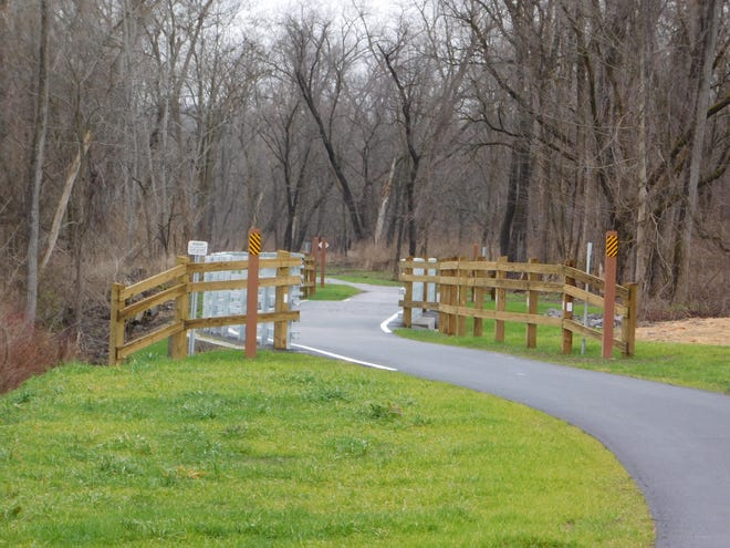The 2.4-mile-section of the Empire State Trail between Erie Canal Lock E-18 in Jacksonburg and State Route 167 in Little Falls has been completed and is ready for bikers and hikers to enjoy.