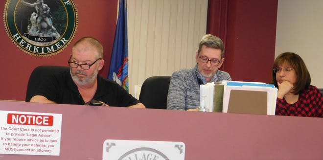 From left are Herkimer Mayor Mark Netti and village trustees Mark Ainsworth and Maria Fiorentino.