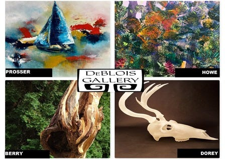 """Naturally Abstract,"" the November Show continues at the DeBlois with the addition of more artwork and gift items for the holiday season."