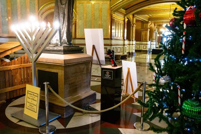"""None of the holiday displays, including the """"Snaketivity"""" display from The Satanic Temple-Chicago, a Nativity scene to mark the Christmas season and a menorah to mark Hanukkah, will be set out at the Capitol in Springfield, due to the ongoing COVID-19-related closures. [File/The State Journal-Register]"""