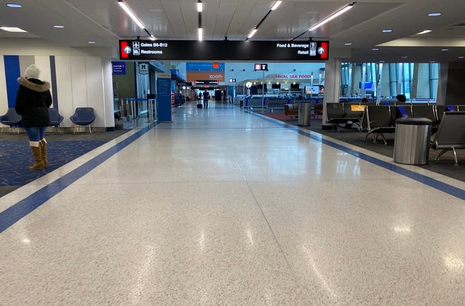Logan International Airport was looking pretty empty early Wednesday morning, but officials said later that while traffic was down, it was still higher than any day since mid-March.