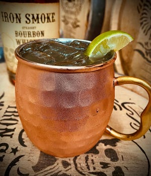 """Here is the Iron Smoke Distillery's Erie Canal mule. The Fairport-based distillery is featured in an """"I Love New York"""" campaign."""