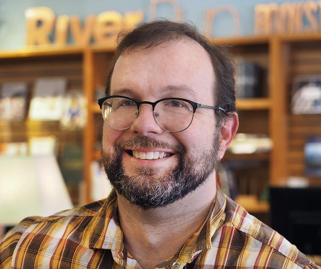 """Tom Holbrook, owner of Riverrun Bookstore in Portsmouth, said online sales is part of his business offerings. """"People who have an account with us find that ordering books online from us is just as simple. We love that,"""" he said."""