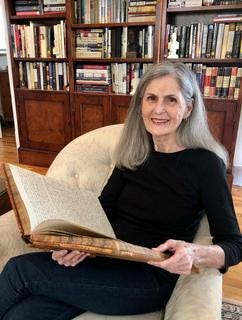 Stafford County Author Lynda Beck Fenwick with journal of Isaac Beckley Werner that inspired her third book, Prairie Bachelor, which is set for December 2020 release.
