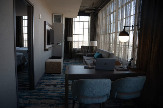 A private suite at Embassy Suites by Hilton Rockford Riverfront gives you the luxury of having a remote workspace away from home with access to all the room features and amenities. These suites are available 8 a.m. to 5 p.m. Monday through Thursday at the downtown Rockford hotel.