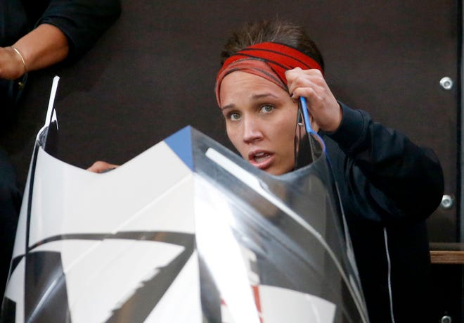 Former Olympic hurdler Lolo Jones is back with USA Bobsled, making this season's 10-woman national team as a push athlete.