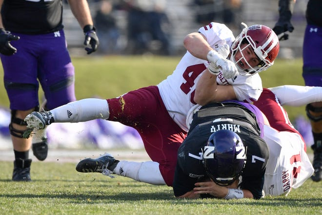 UMass linebacker Cole McCubrey, who starred at West Boylston High, led his team in total tackles this season with 33.