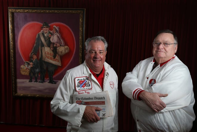 Brian Rigg (left) serves as first vice president and 2020 drive chairman for the Charity Newsies, and Mike Miller is the organization's headquarters manager.