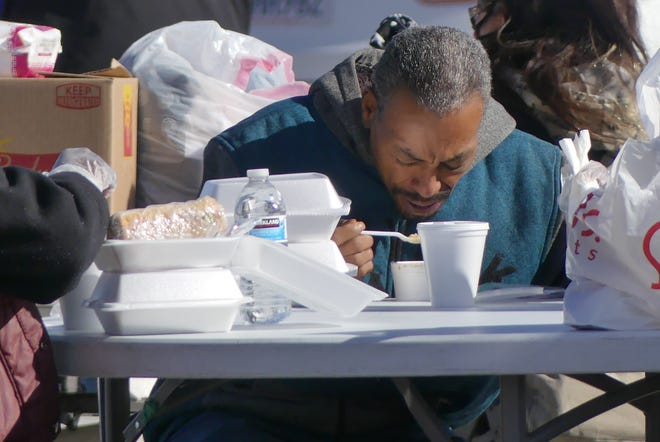 Despite chilly weather and the COVID-19 pandemic, the needy were ministered to by First Assembly of God Victorville volunteers during its annual Thanksgiving Day Outreach.