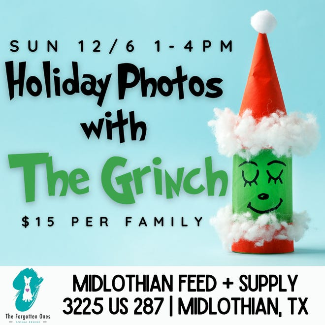 """Midlothian Feed hosts pictures with """"The Grinch"""""""