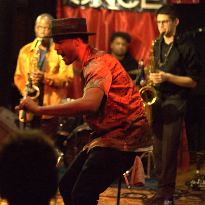 Brooklyn funk band Shareef Keyes & The Groove at ONCE Somerville on Feb. 28, 2019.