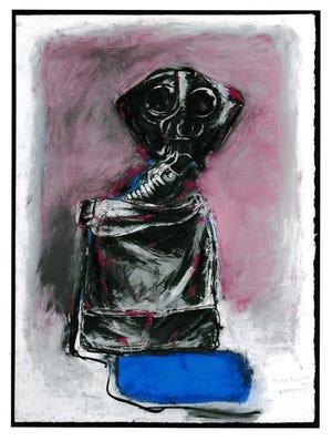 """British Box Respirator WW1"" by Helen Meyrowitz."