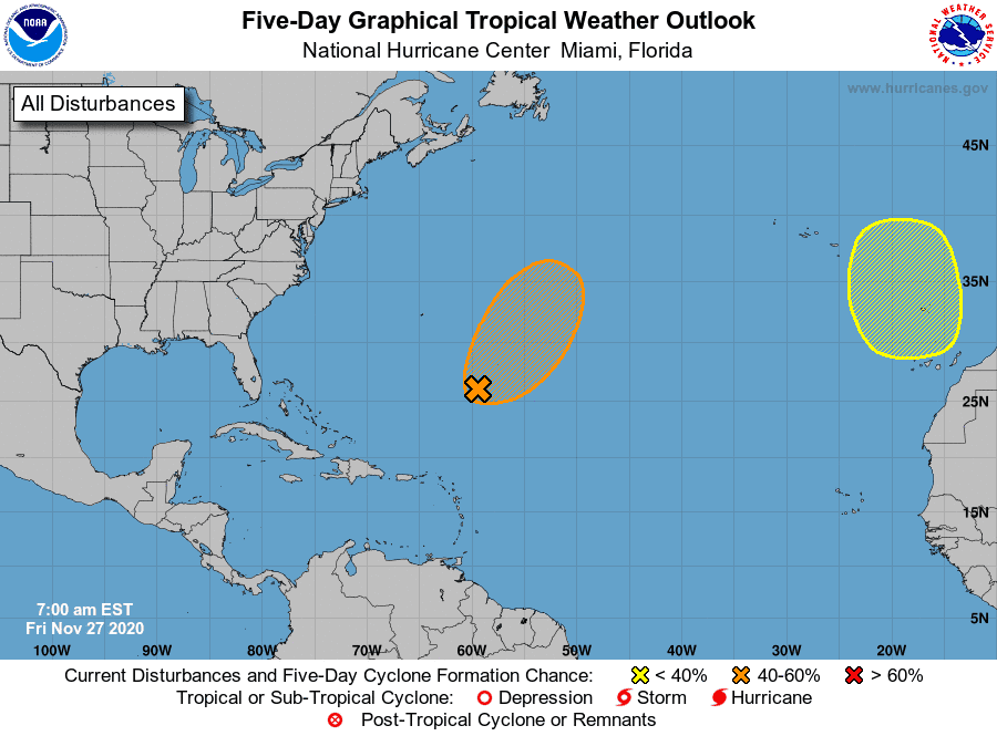 Tropics watch Nov. 27: National Hurricane Center watching 2 systems in Atlantic basin