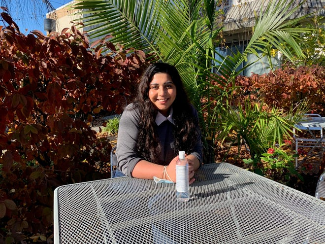 Hira Qureshi comes to the Philadelphia region from Memphis to cover the food beat in South Jersey and Bucks County. Here, she enjoys an outdoor lunch at Sabrina's in Collingswood.