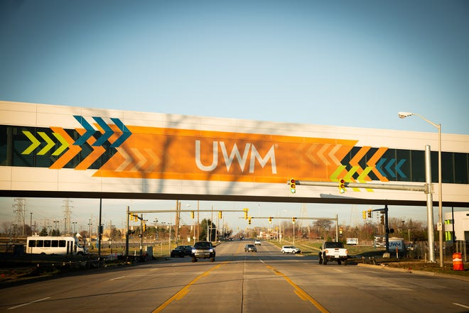 United Wholesale Mortgage employs more than 8,000 people in Pontiac. It recently built this pedestrian bridge for employees.