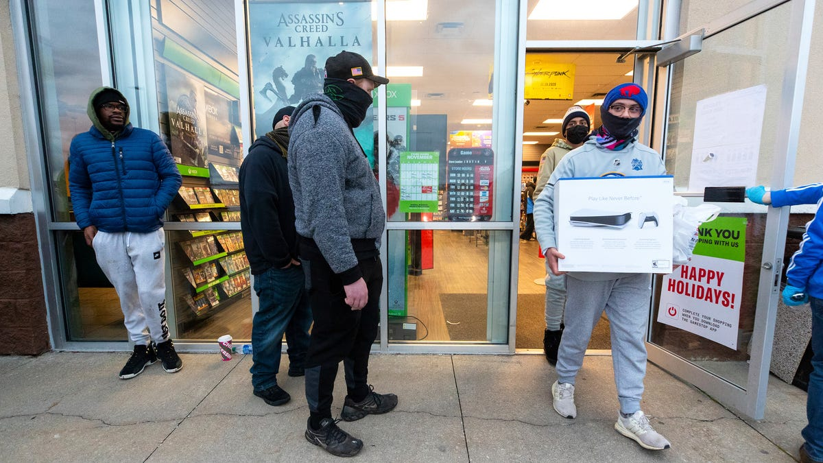 PlayStations are hot with consoles drawing rare shopping...