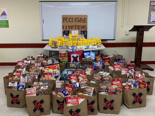 Father Duenas Memorial School distributed donations for Thanksgiving