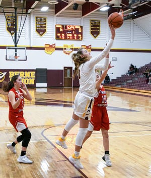 Berne Union senior Bella Kline has scored 1,312 career points and helped lead the Rockets to its Mid-State League-Cardinal Division championship last season.