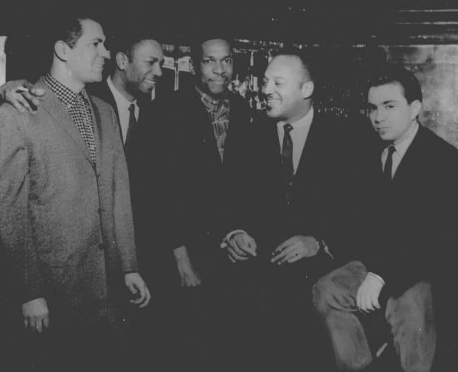 Herman Green (second from left) with John Coltrane, center.