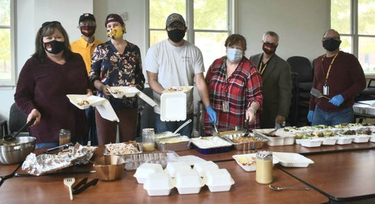 Salisbury University administrators and staff helped a small number of students remaining on campus this Thanksgiving enjoy the holiday by preparing a traditional dinner.