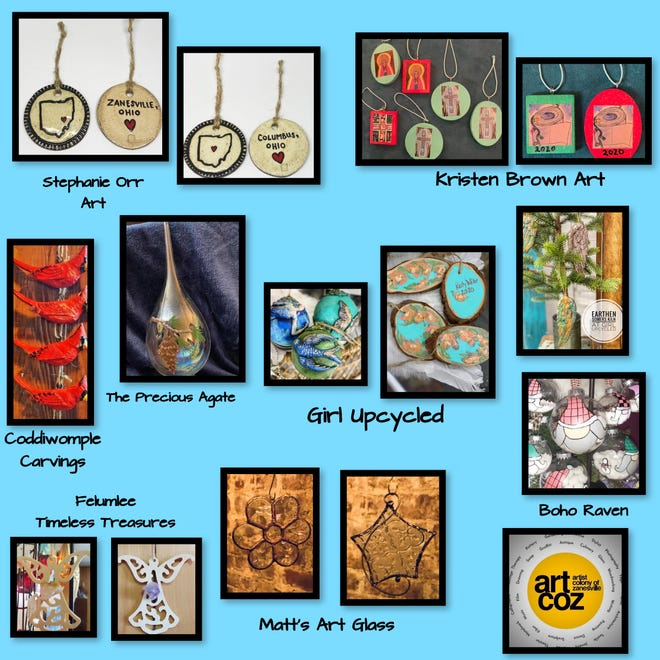 ArtCOZ members will be showing off their handcrafted ornaments during this week's virtual First Friday Art Walk.