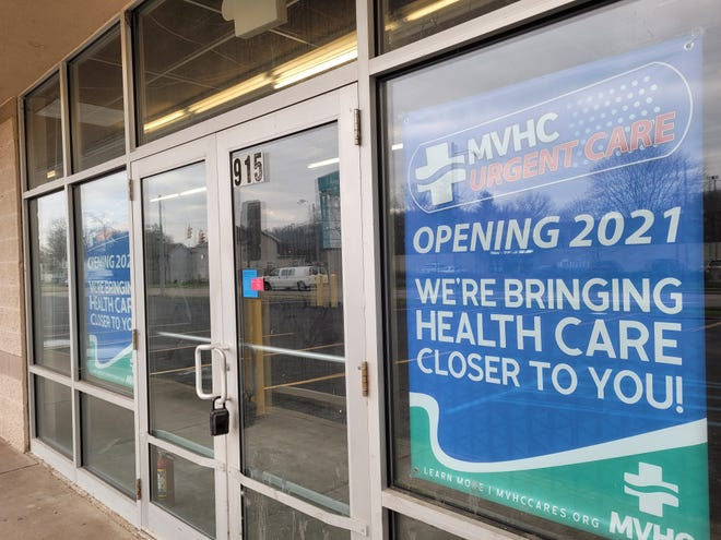 The Muskingum Valley Health Center urgent care is set to open in April in a vacant storefront connected to South End Plaza on Putnam Avenue.