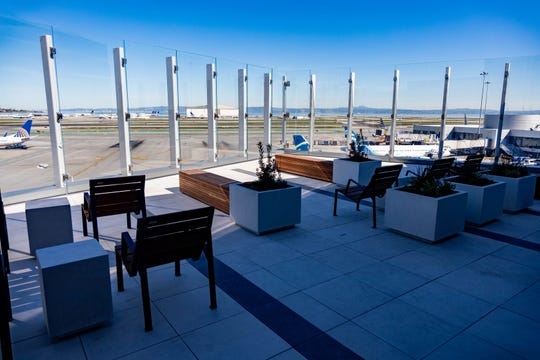Though San Francisco International Airport opened its outdoor SkyTerrace shortly before the pandemic, it arrived just in time to aid in social-distancing efforts.