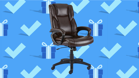 Black Friday 2020: Staples Kelburne Luxura Faux Leather Desk Chair.