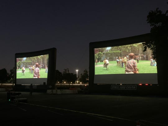 California's Ontario International Airport got in on the drive-in movie theater trend, turning its parking lots into pop-up theaters.