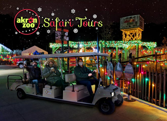 The Akron Zoo is adding golf cart tours of its Wild Lights holiday event for the 2020 season