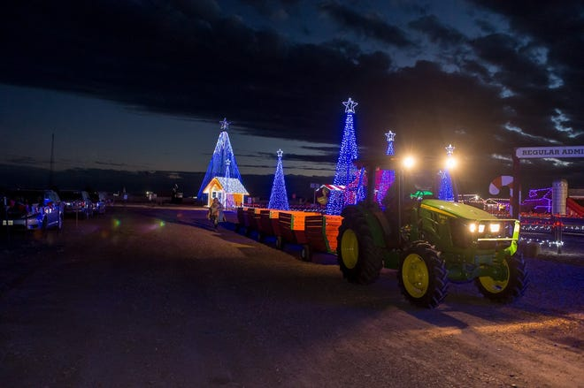 Maxwell's Pumpkin Farm recently opened its first Magical Christmas Festival with various Christmas and holiday attractions and plenty of Christmas lights. It is open weekends through Dec. 18 and every day from Dec. 18-23. [Shaie Williams for Amarillo Globe News]