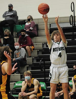 West Branch's Jaxon Hendershott led the Warriors in scoring and set a school record for 3-pointers made in a season.