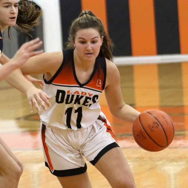 Marlington freshman Chelsea Evanich was named to the Eastern Buckeye Conference girls basketball first team.