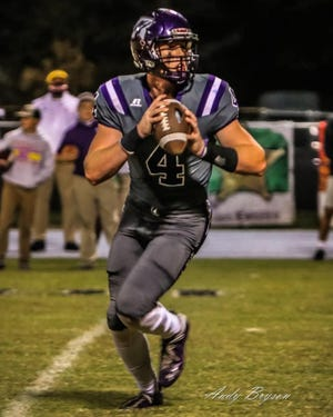 Rosepine quarterback Ethan Frey rushed for four touchdowns and 111 yards in leading the Eagles to a 50-28 win over the Northeast Vikings on Friday.