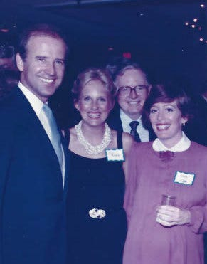 Joe and Jill Biden meet Bill and Kathleen Crotty in 1986 at the Treasure Island resort in Daytona Beach Shores. The late Bill Crotty was a U.S. ambassador to several Caribbean nations and a major Democratic fundraiser, and his daughter Kathleen remembers meeting the Bidens through him.