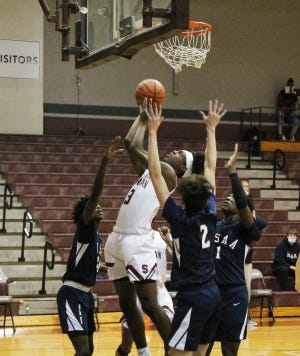 Sherman's Jalarien Wilson scored a game-high 25 points as the Bearcats earned a non-district victory against Dallas HSAA.