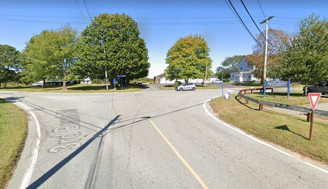 Officials in Middletown will mull a three-way stop at the intersection where Mitchell's Lane, Wapping Road and Third Beach Road connect.