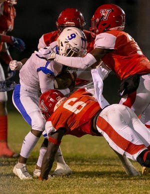 The Vanguard Knights defeated the Clay Blue Devils, 38-7, in the Class 5A Region 2 semifinals on Friday.