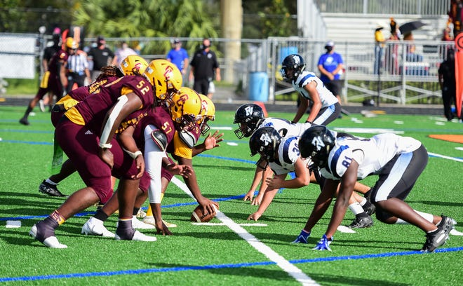Glades Central and Park Vista lined up to play football on Nov. 21 and this week both schools will be competing in the first tri-county high school football playoffs.