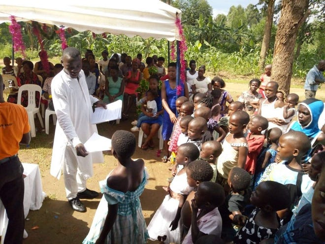 More than half of the 50 children at this orphanage in Uganda have tested HIV-positive; Sarasota's Church of the Trinity is holding a fundraiser to defray the cost of medication.