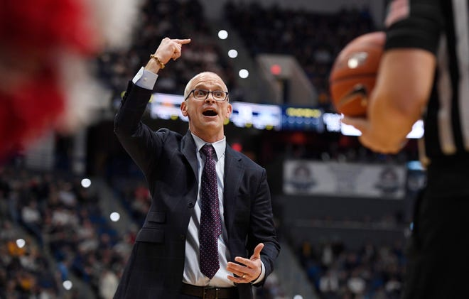 Connecticut head coach Dan Hurley has the Huskies off to a 2-0 start after Friday night's win against Hartford in Storrs.