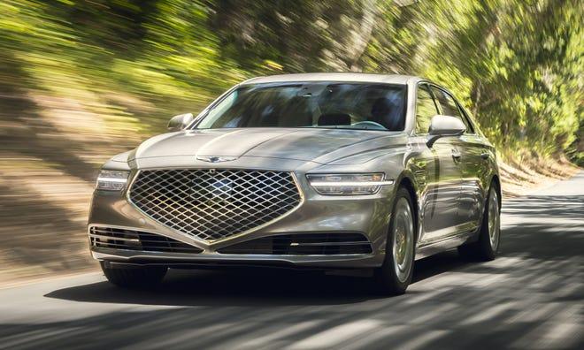 The new Genesis G90 Premium Luxury Sedan.