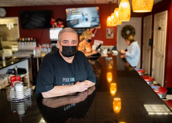 Owner Ralph Verzillo at Half Baked & Fully Roasted in Oxford.