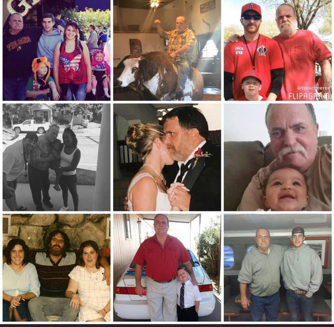 Randy Cuddy in a collage of pictures with family.