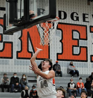 Ridgewood's Dalton Patterson puts up a shot in a game earlier this season. Patterson earned All-Ohio honorable mention, as the Division III and IV teams were announced on Monday.