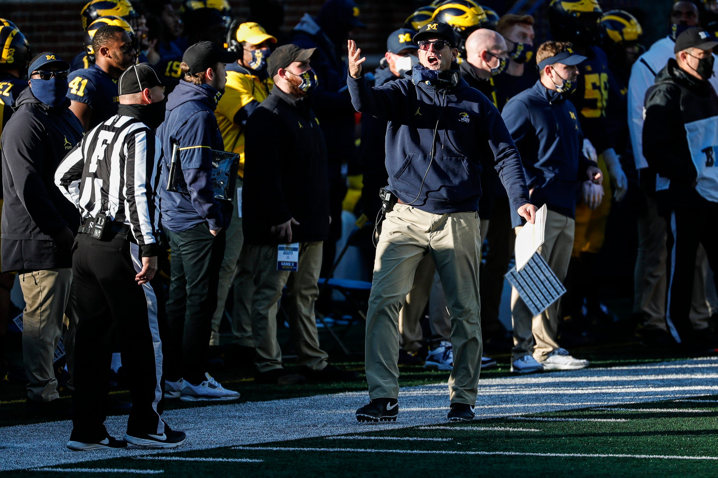 Michigan football halted by virus, but Jim Harbaugh says Wolverines' season has 'been worth it'